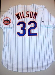 Discount new athletic jersey Cheap Retro #32 PAUL WILSON Russell Athletic Top NEW YORK NY Jersey Home 90's 48 XL Mens Stitched Baseball jerseys