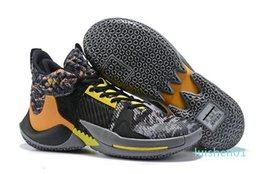 sports shoes green colour Australia - Hot Russell Westbrook 2 Why Not Zer0.2 Thunder Men Basketball Shoes Top Quality Black Super 22 Colours Sport Sneakers Size 40-46 l01