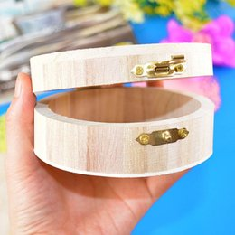 support box Australia - Wooden High-grade Round Storage Box Jewelry Ring Bracelet Organization Case Watch Collection Storage Box Support