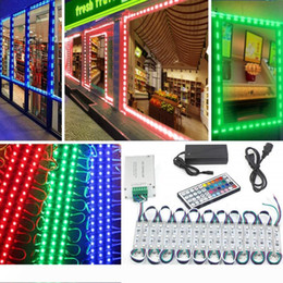 rgb modules wholesale UK - 10ft 20ft 30ft 40ft 50ft Led Modules Lights 5630 5050 RGB Brightest STOREFRONT WINDOW LED LIGHT + Remote Control + Power Supply