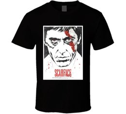 shit cartoon Australia - Scarface 80s Cult Classic Crime Movie T Shirt T-Shits Printing Short Sleeve Casual O-Neck Cotton Cartoon Hip Hop Top Tee