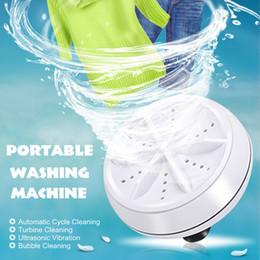 Mini Ultrasonik Çamaşır Makinesi Taşınabilir Turbo Kişisel Dönen Giysi Yıkama Uygun Seyahat Ev İş Seyahat USB 6 W 10 V