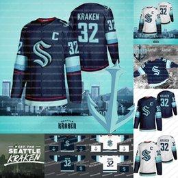 Сиэтл Kraken Джерси Хоккей Джерси 2021 Сезон Пользовательские Мужчины Женщины Молодежь 100% Вышивка двойной прошитой Трикотажные рубашки хорошего качества на Распродаже