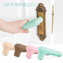 guard products Australia - 2pcsHome Door Handle Knob Silicone doorknob Safety Cover Guard Protector Baby Protector Child Protection Products Anti-collision Oopr#