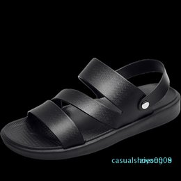 sandal sales wholesale Canada - UYOYU Hot Sale New Fashion Summer Leisure Beach Men High Quality Leather Sandals The Big Yards Men Sandals Size 38-48 c09 z08