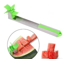 cantaloupe slicer UK - Watermelon Slicer Cutter Stainless Steel Novel Windmill Watermelon Slicer Cantaloupe Pineapple Fruit Vegetable Cutter Tools Kitchen