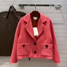 Wholesale woollen cloth resale online - European and American women s clothing winter new style Long sleeve lapel single breasted Fashionable woollen cloth coats