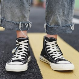 board boots UK - Men Brand Plimsolls Anti-slippery Casual Board Shoes Rugged Ankle Boot Male Skate Sneakers Fashion Ulzzang Teenager Canvas Shoes cs08