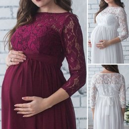 pregnant mother dresses NZ - Pregnant Mother Dress Maternity Photography Props Women Pregnancy Clothes Lace Dress For Pregnant Photo Shoot Clothing