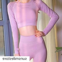 body fitness suit Australia - Suit fitness summer yoga clothes sports temperament body immortal summer gymnastics running clothes navel-exposed clothes look good