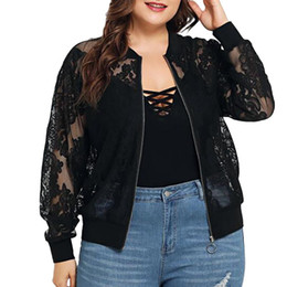 Wholesale plus size lace shawl resale online - 5XL Plus Size Women Blouse Solid Lace Loose Shawl Kimono Cardigan Hollow Out Autumn Full Sleeve Blouse blusas mujer de moda