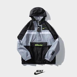 Wholesale asian men coats jackets resale online – Men Air Jacket Coat Sweatshirt Hoodie Long Sleeve Autumn Sports Hoody Windbreaker NIK Mens Clothes Plus Size Hoodies Asian size Windbreaker