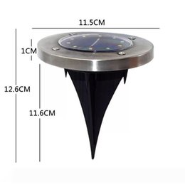 solar powered deck lights Canada - Waterproof Solar Powered 8 LED Buried Underground Lighting Outdoor Landscape Path Garden Lamp Stairs Light Decking Lamp