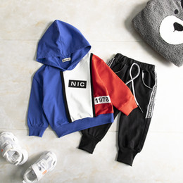 Wholesale kid hoodie resale online - Spring Autumn Toddler Tracksuit Baby Clothing Sets Children Boys Girls Clothes Kids Cotton Hoodies Pants sets