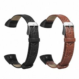 replacement leather strap Canada - Replacement Wear Resistant Leather Wrist Watch Band Strap For Huawei Honor Band 5 4 Bracelet Accessories Brown, Black abJi#