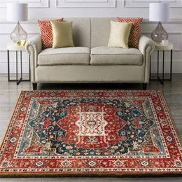 wholesale bedside tables NZ - Vintage Morocco Carpets For Living Room Home Bedroom Bedside Persian Style Decor Large Area Rugs Coffee Table Non Slip Floor Mat Kc7x#