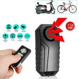 remote bicycle security alarm UK - Wireless Remote Control Waterproof Bike Anti-Theft Alarm Motorcycle Bicycle Security Alarm 140dB Electric Car Sensor