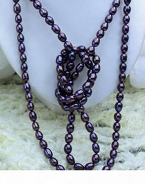 coffee pearl Australia - O New Fine Pearl Jewelry Beautiful !!50 &Quot ;Coffee Purple Oval Pearl Necklace