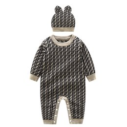 Wholesale sweaters unisex for sale – custom 2 piece Newborn baby Boy baby romper knitted clothes baby jumpsuit autumn newborn romper outer autumn and winter sweater sweater suit
