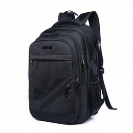 laptop backbag Canada - Mens Black School Bags Business Backpack Waterproof Large Bagpack Rucksack Back Pack Male Laptop Bag School Bags High Capacity Backbag 1Mqp#
