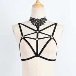 bondage sex bandage UK - Lanshifei Sex Female Bondage Lady Bandage Dress Crop Top Sex Bondage With Flower Sexy Hollow Out Bdsm Set Lingerie Belt