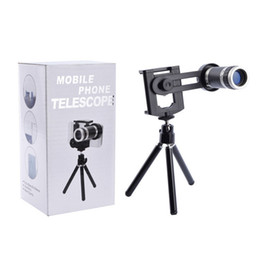 telescope for iphone 5s UK - Universal 8X Optical Zoom Telescope Camera Lens with Mini Tripod Holder for Mobile iPhone 6 Plus 5 5S Samsung Galaxy S5 I9600