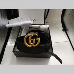 Ingrosso NUOVO 3.8-3.4-2.0cm gg uomini cinghia delle donne di alta qualità Gucci Genuine Leather Belt per i Mens di lusso libero di trasporto