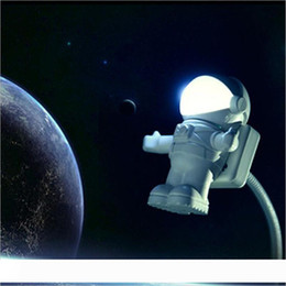 switch computers NZ - 2017 Astronaut Spaceman LED Night Light USB Desk Lamp Computer PC Keyboard Flexible Book Light Best Gift For Friend ZA1355