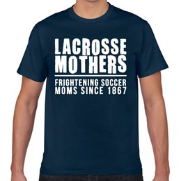 Toptan satış Tops T Shirt Men lacrosse moms shirt Funny Harajuku Geek Cotton Male Tshirt XXX