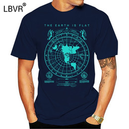 Wholesale flat earth resale online - Flat Earth Map t shirt Earth is flat Firmament lies New World Order