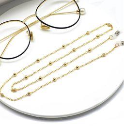 Großhandel Sommer unisex Clip Perle Brillenkette, Frau Kette Zubehör, Damen Brillenkette, Halskette, Ketten Sonnenbrille freies Verschiffen
