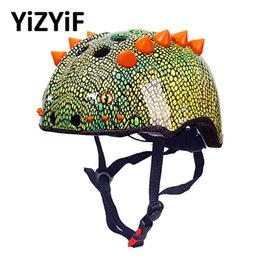 girl riding bicycle Australia - Bicycle Helmet For Kids Bike Helmet Cute 3D Cartoon Dinosaur City Road Cycling Helmets Boys Girls Outdoor Sport Skating Riding