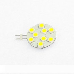 puck spotlight Canada - LED G4 Spot Bulb Puck Light 9leds SMD 5050 3W AC DC10-30V Dimmable White 200LM Ships Autobike