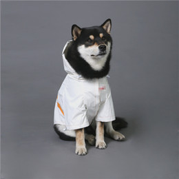 white raincoats Canada - Reflective Pet Raincoat Trendy White Dog Outerwears Brand Windproof Rainproof Hot Dog Pet Jacket Corgi Hiromi French Fighting Dog Jacket