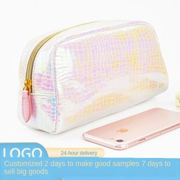magic cosmetics NZ - 2019 New handheld fashion cosmetic bag PU snakeskin pattern magic color laser cosmetic bag