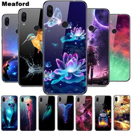 bumpers phone cases UK - 6.3'' For Xiaomi Redmi Note 7 Tempered Glass Case Soft Bumper 3D Printing Cover For xiaomi Redmi Note 7 Note7 Pro 7S Phone Case