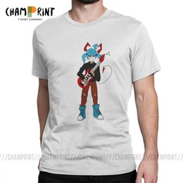 guitar face UK - Sally Face T Shirt Men's Pure Cotton Cool T-Shirts Sally and Guitar Tee Shirt Short Sleeve Round Neck Tops Summer