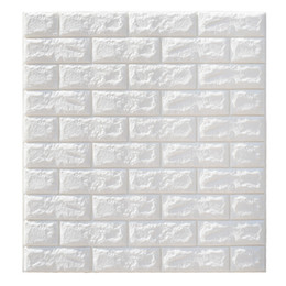 foam stickers for kids NZ - 3D Brick Wall Stickers Wallpaper Decor Foam Waterproof Wall Covering Wallpaper For Kids Living Room DIY Background