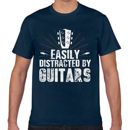 guitar black yellow UK - Tops T Shirt Men guitar guitarist Sexy Harajuku Print Male Tshirt
