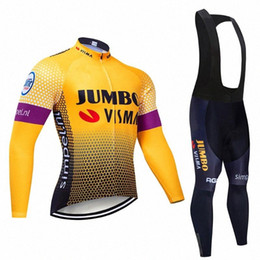 2020 2020 Slim Section Long Sleeve Cycling Jersey Set Clothes Maillot Ropa Ciclismo Bicycle Clothes Wear Bike Uniform Set 0D1L# on Sale