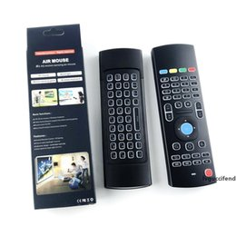 fly ir Canada - Mini MX3 Air Mouse Backlight X8 2.4G Wireless Keyboard IR Learning Fly Air Mouse Backlit Remote Control For Android TV Box