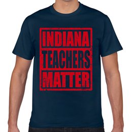 Tops T Shirt Men indiana teachers red for ed action day Summer Harajuku Custom Male Tshirt