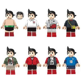 japanese mini figures Canada - Newest 8pcs Lot Japanese Anime Cartoon Tetsuwan Atom Astro Boy Mini Action Figure Building Blocks Toy For Children