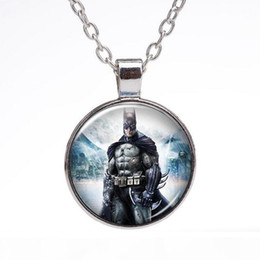 batman pendants Australia - E Free Shipping Super Hero Batman Series Time Gem Pendant Necklace Silver Wfn369 (With Chain )Mix Order 20 Pieces A Lot