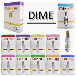 dab package NZ - DIME Vape Cartridge Packaging Thick Oil Vape Pen Glass Tank Ceramic Coil Dab Pen Wax Vaporizer 510 Thread E Cigarettes Atomizers