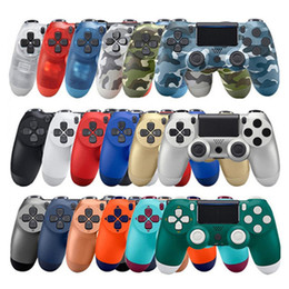 station wireless controllers NZ - 2020 New colors for PS4 Wireless Bluetooth Controller Vibration Joystick Gamepad Game Controller for Sony Play Station With box Dropshipping