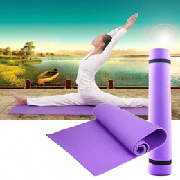 blue gym mats Canada - 6mm EVA Yoga Mat Exercise Pad Thick Non-Slip Gym Fitness Pilates upplies For Yoga Exercise 68x24x0.24inch Floor Play Mat RWMA#