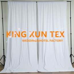 new curtains designs NZ - New Design 100% Polyester Plain Wedding Backdrop Curtain \ Stage Background For Event And Party Decoration Free Shipping