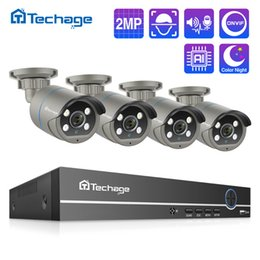 Discount nvr camera systems Security & rotection H.265 POE CCTV System 8CH 1080P NVR Kit 2MP Audio Record AI IP Camera IR Outdoor Waterproof P2P Vid