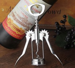 winged bottle opener Canada - Wine beer bottle opener Stainless steel metal strong Pressure wing Corkscrew grape opener Kitchen Dining Bar accesssory SN1940